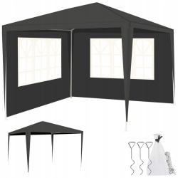 Namiot pawilon ogrodowy handlowy 2 ścianki 3x3m z oknami różne kolory