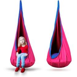 Kokon fotel wiszący dla dzieci huśtawka dziecięca do pokoju ogrodu różne kolory