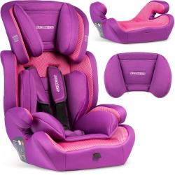 Fotelik samochodowy Massi 9-36 kg zdejmowane oparcie kolory wkładka dla dzieci