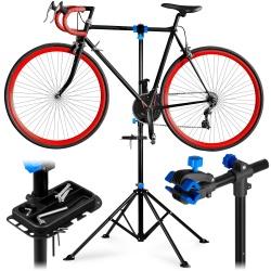 Stojak rowerowy serwisowy wieszak stal do 30kg półka na narzędzia stabilny