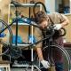 Stojak rowerowy serwisowy wieszak na rower do 30kg aluminium srebrny