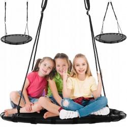 Duża huśtawka ogrodowa koło dla dzieci bocianie gniazdo XL 100cm do 150 kg