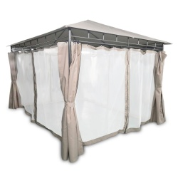 Pawilon ogrodowy altana namiot 3 x 3 metra moskitiera ścianki boczne rozkładane