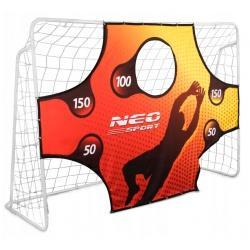 Duża bramka do piłki nożnej piłkarska 245 x 155 x 80 cm mata do celowania