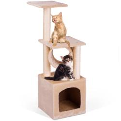 Domek legowisko drapak dla kota wysokość 93 cm platformy domek myszka do zabawy