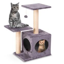 Domek legowisko drapak dla kota wysokość 71 cm platformy wiszące maskotki domek myszka do zabawy
