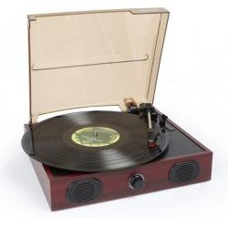 Gramofon z głośnikami Fenton RP105 wyjście USB RCA funkcja RIP