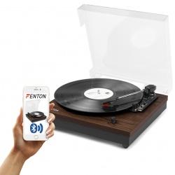 Gramofon z głośnikami Fenton RP112 Bluetooth jasne lub ciemne drewno