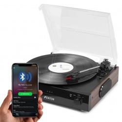Gramofon Fenton RP102 z Bluetooth głośnikami zgrywaniem mp3 czarny srebrny