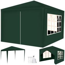 Pawilon ogrodowy namiot 3x3 metry zadaszenie 4 ściany z oknami zamykany