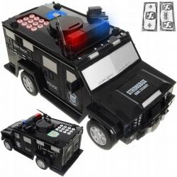 Skarbonka dla dzieci sejf elektroniczny Cash Truck samochód policyjny PIN