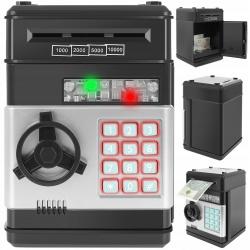 Skarbonka sejf bankomat elektroniczny na PIN monety i banknoty automat wciągający