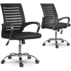 Fotel biurowy obrotowy z mikrosiatki Baturan szary czarny mechanizm TILT