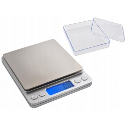 Waga kuchenna gramowa precyzyjna jubilerska przenośna 2000g 2kg/0,1g