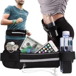 Nerka do biegania saszetka biodrówka sportowa uchwyt na butelkę kieszeń