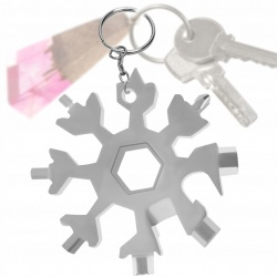 Klucz wielofunkcyjny 18w1 brelok do kluczy śnieżynka Multitool otwieracz