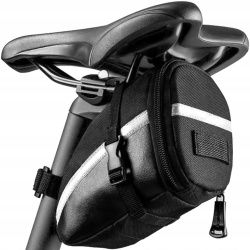 Pojemna sakwa rowerowa pod siodełko torba na rower odblask wodoszczelna