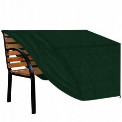 Duży pokrowiec ochronny na ławkę ogrodową 160x80x75cm zielony PE