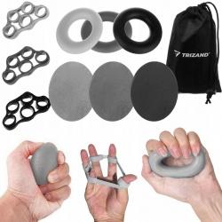 Zestaw 9 gum do ćwiczeń ręki nadgarstka palców o różnej sile oporu donut
