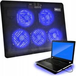 """Podkładka chłodząca pod laptopa podstawka 12-17"""" z podświetleniem LED"""