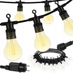 Girlanda ogrodowa 10m 24V IP44 lampki ogrodowe żarówki 6m zewnętrzne 20 sztuk