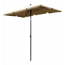 Duży parasol plażowy ogrodowy 130x200 cm łamany składany beżowy lub szary