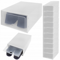 Pudełko na buty zestaw 10 sztuk pojemnik organizer z klapką szafka