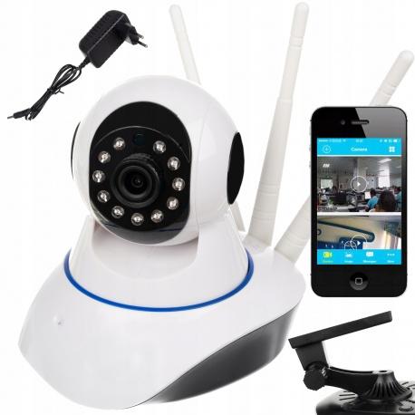 Kamera WiFi panoramiczna obrotowa monitoring na samrtfon pamięć