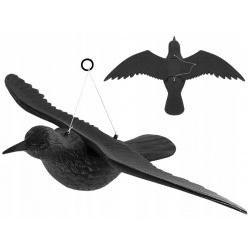 Kruk w locie na sznurku odstraszacz ptaków gołębi szpaki wiszący 59cm