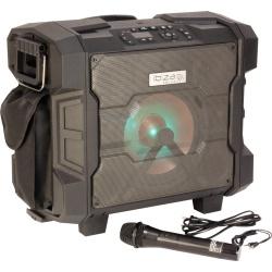 Wodoodporna kolumna mobilna Ibiza Sound głośnik 10 cali moc 300W z Bluetooth FM USB i mikrofonem UHF