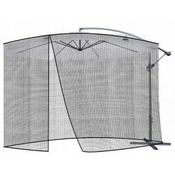 Moskitiera do parasola ogrodowego średnica 3,5 metra czarna antykomarowa