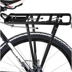 Bagażnik rowerowy tylny aluminiowy uniwersalny 35kg obciążenia czarny