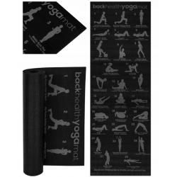Mata fitness do jogi z planem ćwiczeń gimnastyczna 28 pozycji instrukcja