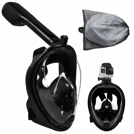 Maska do snorkowania nurkowania składana pełnotwarzowa S/M czarna