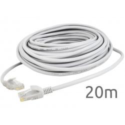 Kabel sieciowy LAN 20 metrów Ethernet skrętka Gold zakończony wtyk RJ45