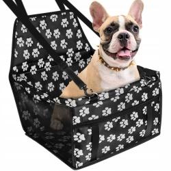 Transporter dla psa królika na siedzenie samochodu przypinany chroni siedzenie