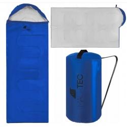 Duży śpiwór turystyczny XL rozkładany jak kołdra 2w1 mumia kaptur 930g