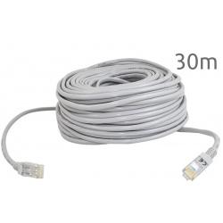 Kabel sieciowy LAN 30 metrów Ethernet skrętka Gold zakończony wtyk RJ45