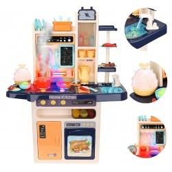 Zabawkowa kuchnia dla dzieci 93cm kuchenka zmina para wodna naczynia sztućce