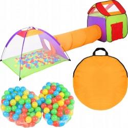 Domek dla dzieci tunel do zabawy namiot z piłeczkami 200 sztuk kolorowy