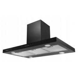 Okap kuchenny wyspowy 90 cm pochłaniacz oświetlenie LED stal nierdzewna