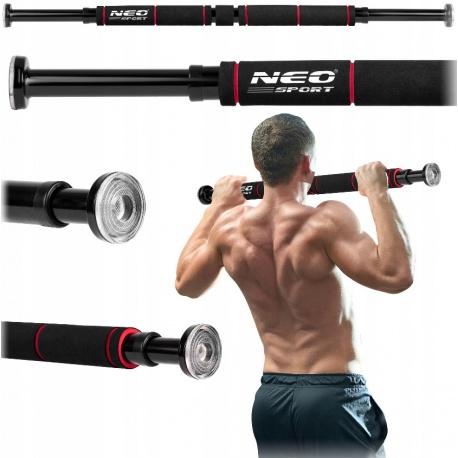 Drążek rozporowy do ćwiczeń podciągania Neo-Sport szerokość 60 - 85 cm