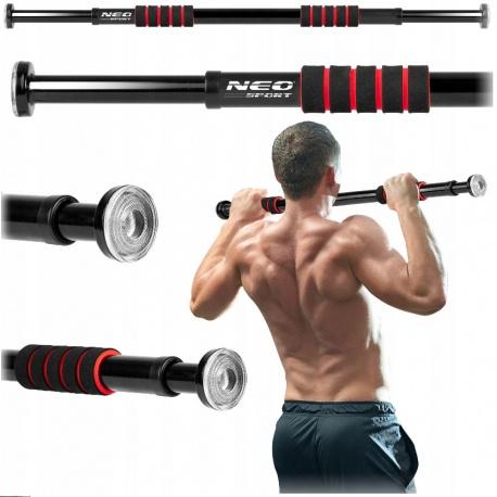 Drążek rozporowy do podciągania ćwiczeń szerokość 60 - 85 cm Neo-Sport