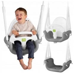 Bezpieczna huśtawka kubełkowa 3w1 dziecięca 3 poziomy na różny wiek dziecka