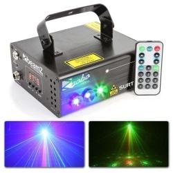 Laser czerwony i zielony z efektem LED BeamZ Surtur II niebieska dioda 3W