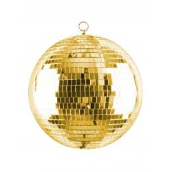 Dyskotekowa złota kula lustrzana 30 cm oczko do powieszenia lusterka złote