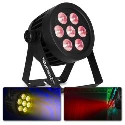 Reflektor LED PAR różne kolory oświetlenie efekty 7x 10W RGBW IP65 BeamZ BWA530