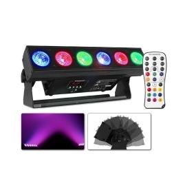 Oświetlacz akumulatorowy LED Uplight Bar 6x12W RGBAW-UV z bezprzewodowym DMX BBB612
