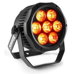 Reflektor zewnętrzny zaprogramowane pokazy LED PAR IP65 BWA410 BeamZ