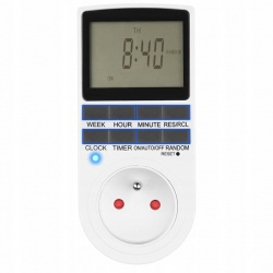 Programator czasowy włącznik wyłącznik zasilania do gniazdka Timer LCD